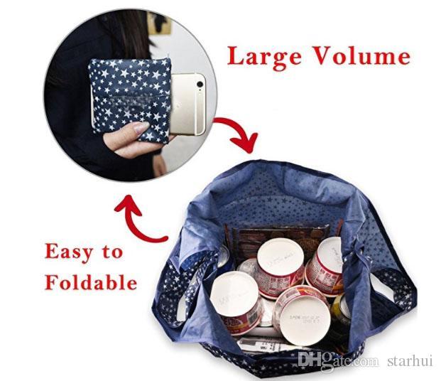 أكياس نايلون جديدة قابلة للطي للتسوق قابلة لإعادة الاستخدام بقالة حقيبة التخزين حقائب تسوق صديقة للبيئة حمل الحقائب WX9-661