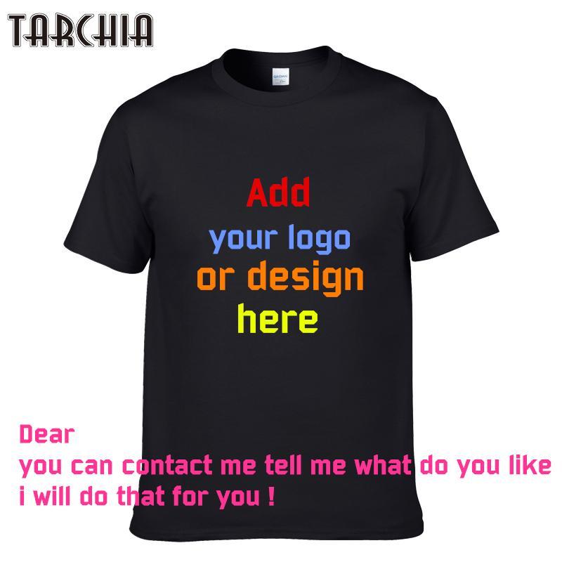 c6279ed1ee344 TARCHIA 2018 Printed Personalized T Shirts Designer Logo Mens T Shirt  Advertising New Boy Tshirt Short Sleeve Tees Tops Cotton Retro Shirts  Awesome Shirts ...