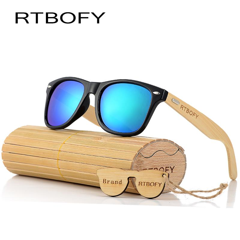 a3d24b77c8 RTBOFY 2017 Retro Bamboo Wood Sunglasses Men Women Brand Designer ...