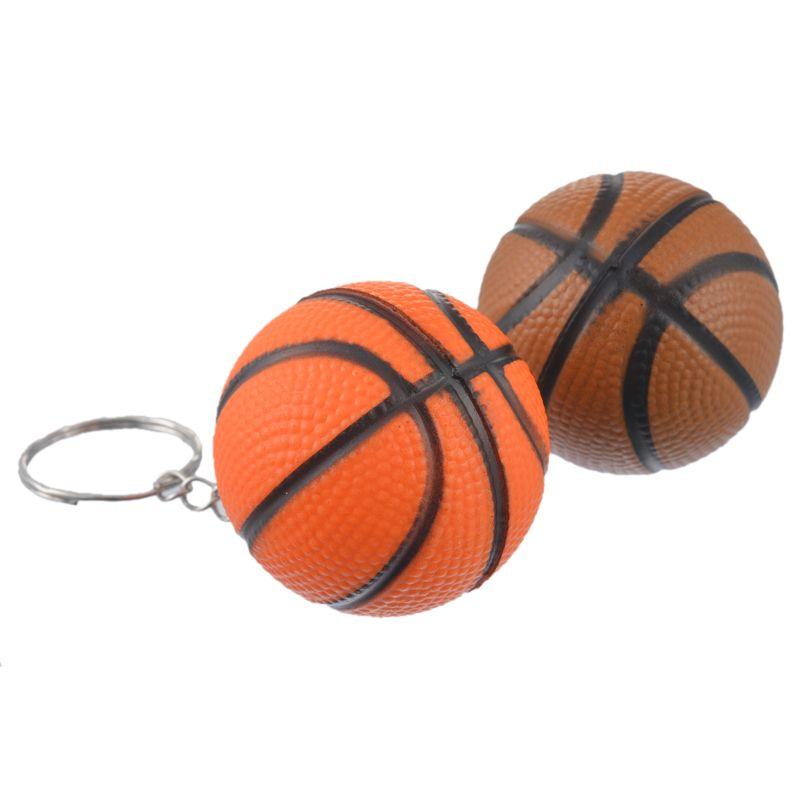 MJARTORIA Fixed Mixed Fashion PU Basketball Key Chain For Boy Man Key Holder For Car Key Ring Charm Pendant Jewelry Gift