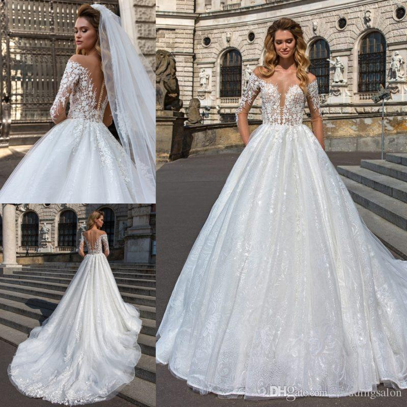 c0806335944 Cheap Brides See through Wedding Dresses Discount Luxury Bohemian Wedding  Dresses