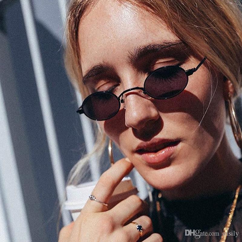 2018 Nuovo caldo sexy di vendita ovale piccolo SunglassesMen donne di marca occhiali di design di moda Uomo Donna ShadesUV400 L160