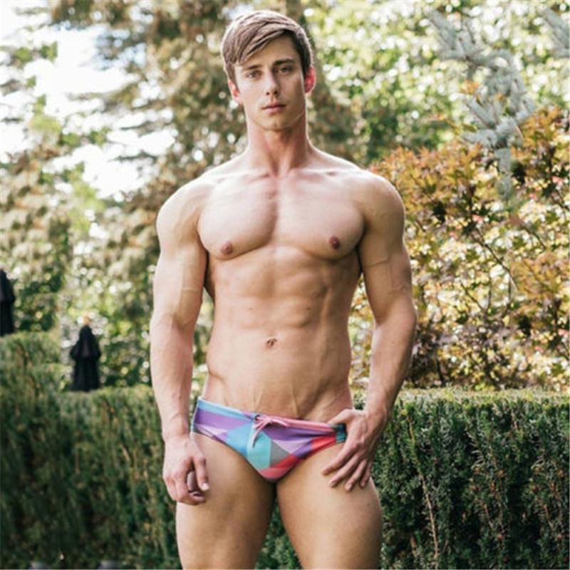 9fb3259ec4 New 2018 Men's Swimwear Shorts Summer Style Cool Beach Pants Board Shorts  Pants Hot Sale Men Colorful Printed Swim Trunk Canada 2019 From Mujing, ...