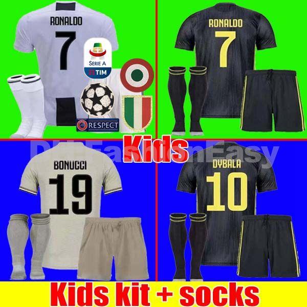 Tailandia RONALDO Kit Infantil Juventus 2018 2019 Camisetas De Fútbol  DYBALA 18 19 Camiseta De Fútbol Kit Marchisio MANDZUKIC MATUIDI Uniformes  Para Niños ... b7e3486bb7572