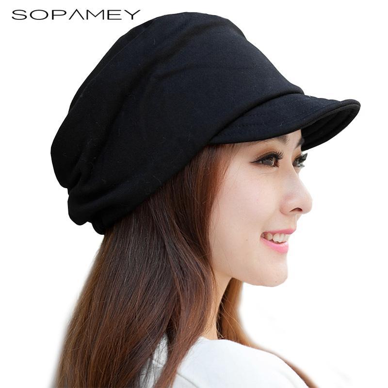 ffc7a63b6 SOPAMEY 2017 Winter Women's Hats Boys Girls Casual Hip Hop Cap Knitting  Warm cap female Skullies Beanie Fashion Soft along