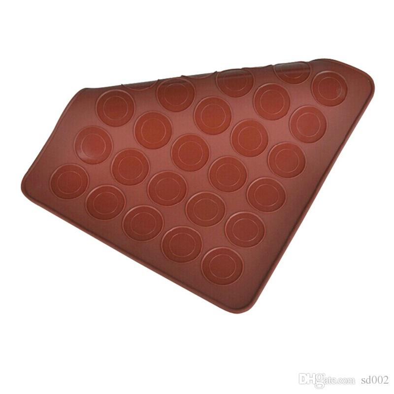30 Circle Macaron Silicone Mat Multifunction Dessert Muffin DIY Mold Nonstick Cake Baking Mould Practical Kitchen Tool Accessories 5 9ww YY