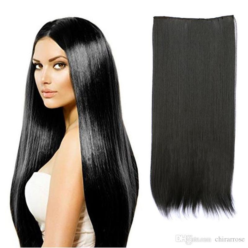 Women s Long Straight Hair Extension Hair Extension Long Wig ... 9c7918fec