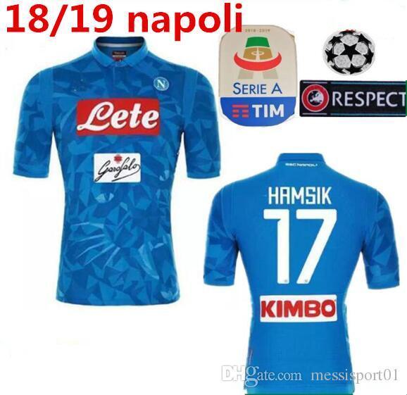 Compre 2018 19 Serie A Nápoles New Napoli Camisas De Futebol Napoli Home Futebol  Camisas Camisa Para Homens 18 19 HAMSIK L.INSIGNE PLAYER Camisa De ... 4bb72f5b78c78