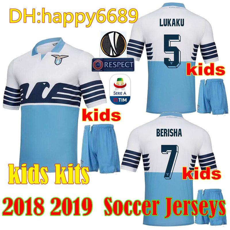ec368ee44b6 2019 Kids Kit 2018 2019 Lazio Soccer Jerseys Home Away 18 19 F.ANDERSON  LUCAS KISHNA BASTA D JORD JEVIC KEITA IMMOBILE LULIC Football Shirts From  Happy6689