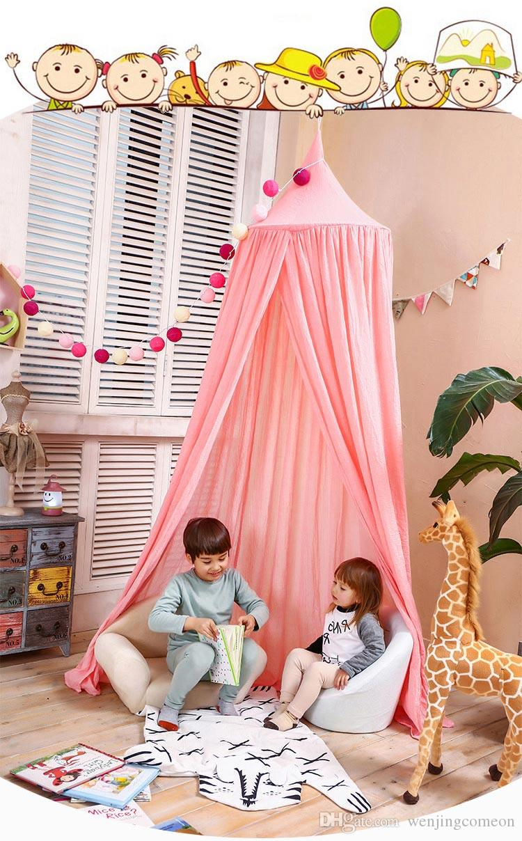 Children Canopy Tent Playhouse Kids Crib Netting Play Tent Baby Hanging Teepees Tipi Mosquito Net For Boy Girls Room Decoration Tent With Balls For Toddlers ... & Children Canopy Tent Playhouse Kids Crib Netting Play Tent Baby ...
