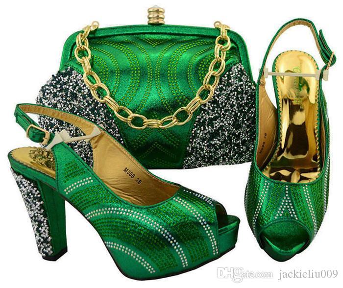 Nova moda D.blue mulheres bombas com rhinestone sapatos africanos match bag set para o vestido M006, calcanhar 11 CM