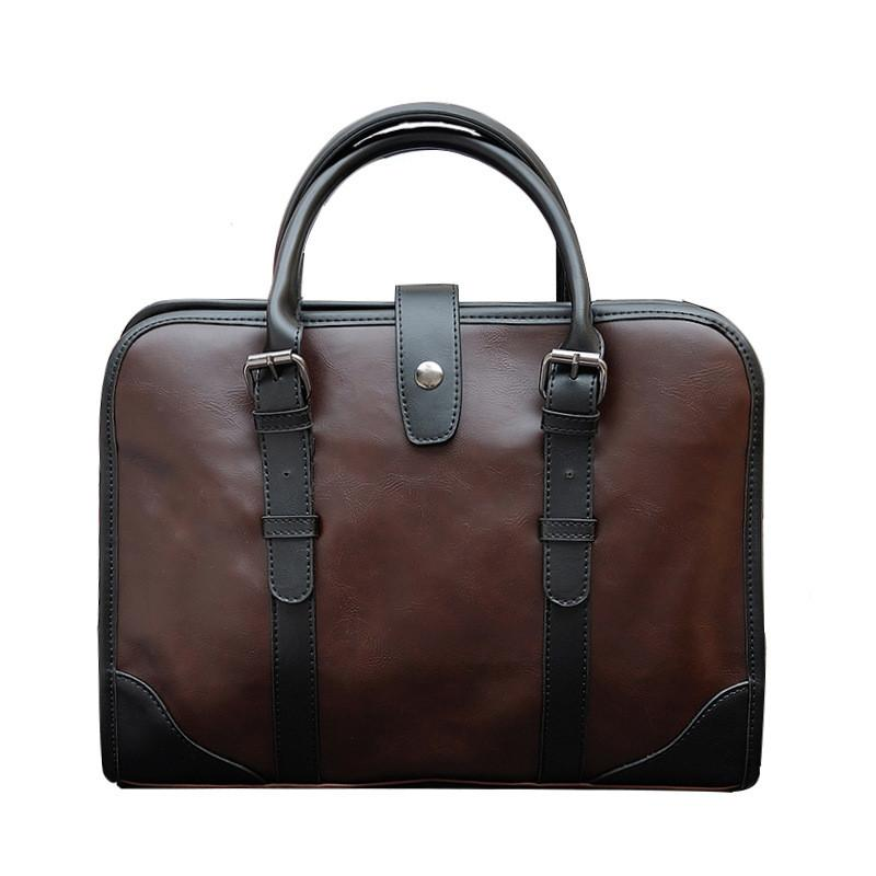 66778abb6b 2019 NEW Vintage Men Briefcase Best PU Leather Men S Messenger Bags Casual  Male Laptop HandBags Business Office Tote Men L158 Work Bags Handmade  Leather ...