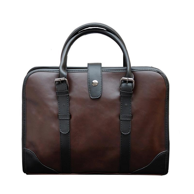 1d8d4175c1 2019 NEW Vintage Men Briefcase Best PU Leather Men S Messenger Bags Casual Male  Laptop HandBags Business Office Tote Men L158 Work Bags Handmade Leather ...
