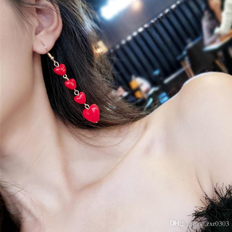 a25ca0827a Fashion Boho heart Drop Earrings For Women earring Jewelry Brinco Carved  Vintage Tibetan Silver Bohemian Long Earrings