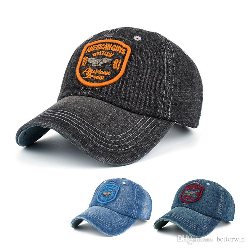 New Arrival Denim Snapback Hat Men Women America Guys Dream Baseball Cap  Casquette Cap Gorras Hats For Men Hatland From Betterwin bd5365a26f82