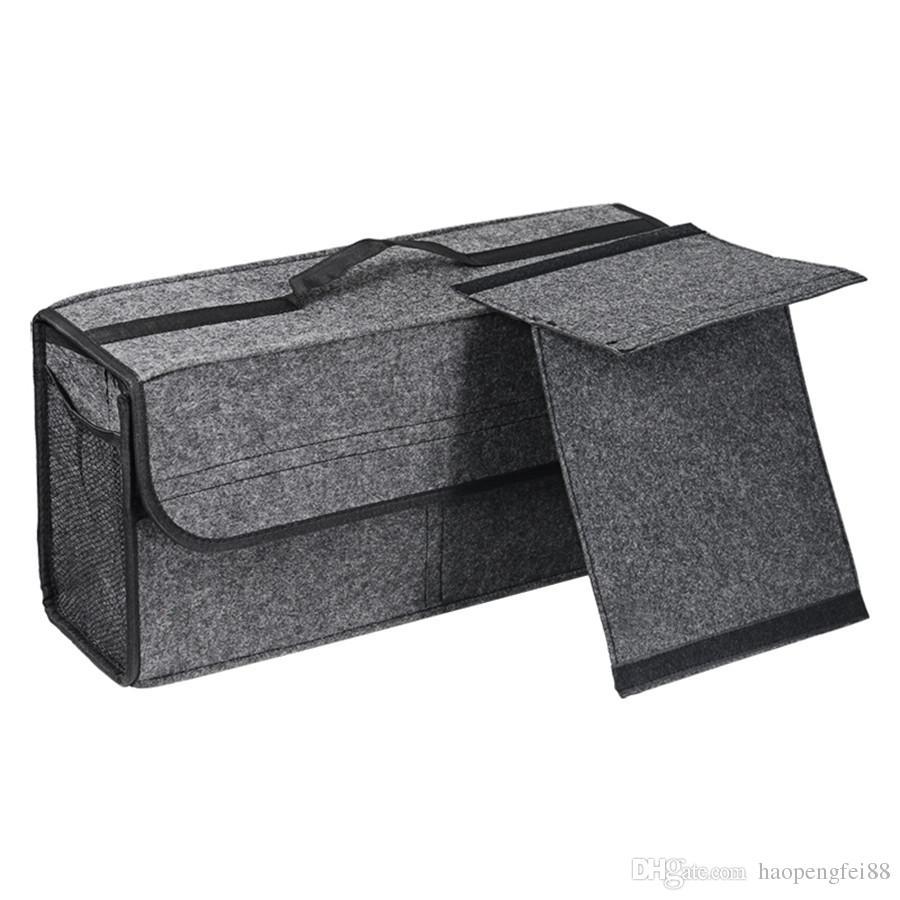 2d3c3a5f2667 Новый раздел автомобиль чувствовал ящик для хранения багажник сумка ящик  для инструментов многофункциональный организатор сумка
