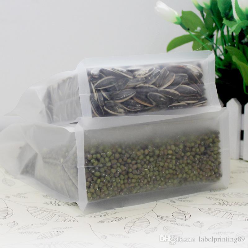 oito vedação borda fosco saco clara transparente de plástico PET de bloqueio do fecho de correr, chá embalagem durável, café, porca, grão bolsa de embalagem permanente