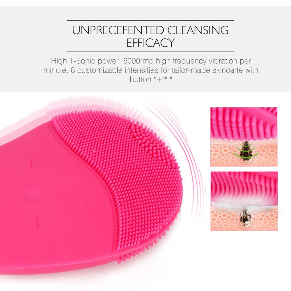 Electric Face Cleanser Vibrate Pore Clean Silicone Cleansing Brush Massager Facial Vibration Skin Care Spa Massage