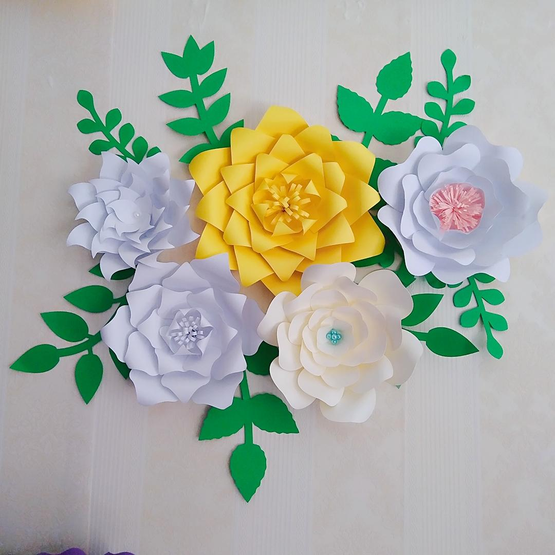 2018 ready giant paper rose flower templates with tutorial for 2018 ready giant paper rose flower templates with tutorial for wedding backdrop baby nursery fashion trade show with leaves from fivestarshop mightylinksfo