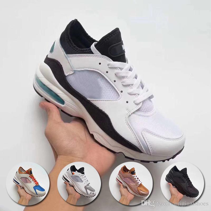 los angeles 89ae4 3f110 Compre 2018 Maxes 93 Og Qs Zapatos Casuales De Los Hombres De Calidad  Superior Zapatillas De Deporte Negro Blanco Hombre Zapatos De Las  Zapatillas De ...