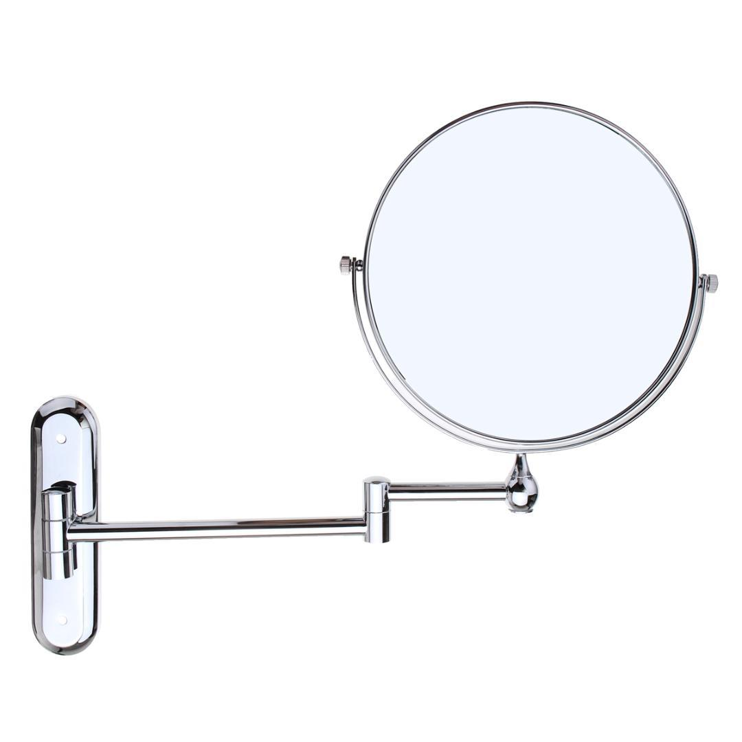 8cosmetic Double Sided 10x Magnifying Mirrors Chrome Round Wall ...