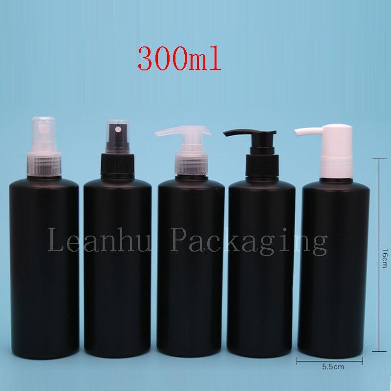 300ml black PE bottle with pump (1)