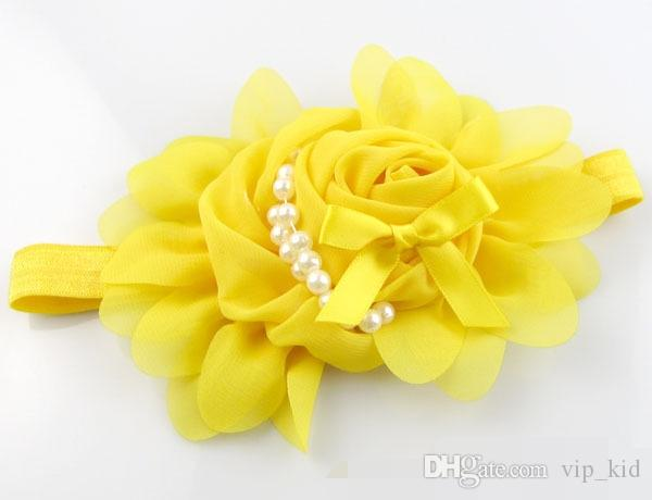 Strass Spitze Stirnband Mädchen Rose Blumen Net Garn Haarband Mädchen Baby Big Bow Haarbänder Stirnbänder C1