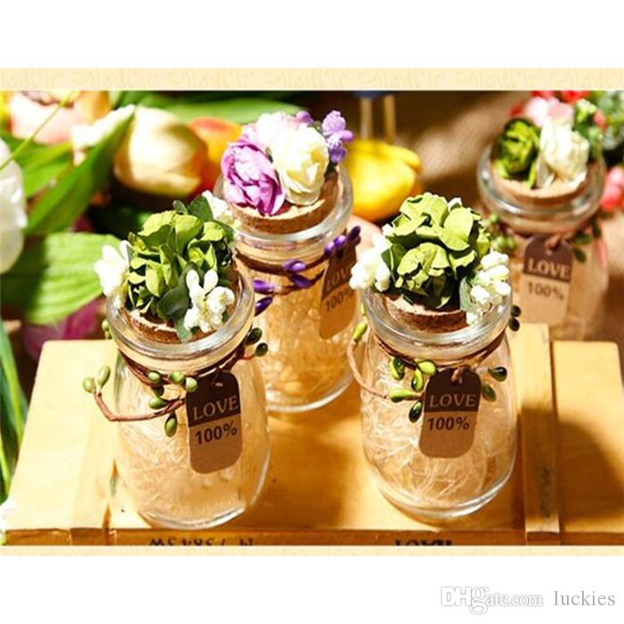 2019 Glass Jar Wedding Favors Candy Boxes Wishing Bottle Clear