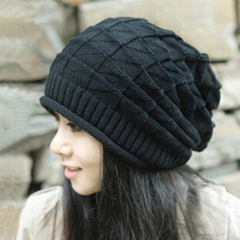28f71a781a6 Unisex Knied Knit Hat Winter Skateboard Crochet Cap Baggy Beanie For ...