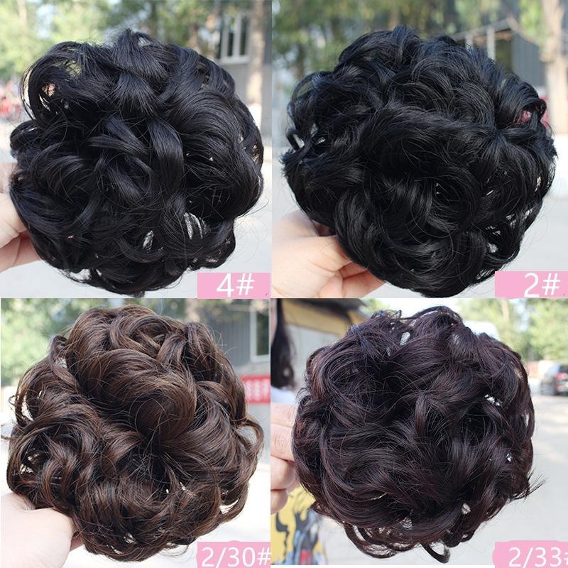 Frauen schöne große Clip-in lockiges Kunsthaar Chignons Haarknoten einfach vier Farben zur Verfügung zu tragen