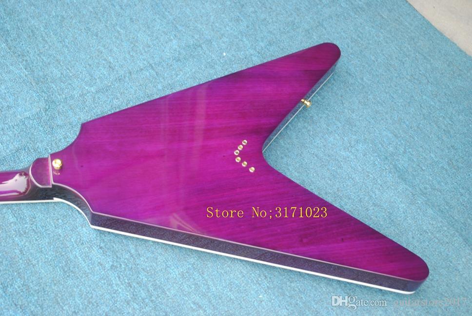 chitarra elettrica viola personalizzata 1958 Flying-V chitarra elettrica China Guitar