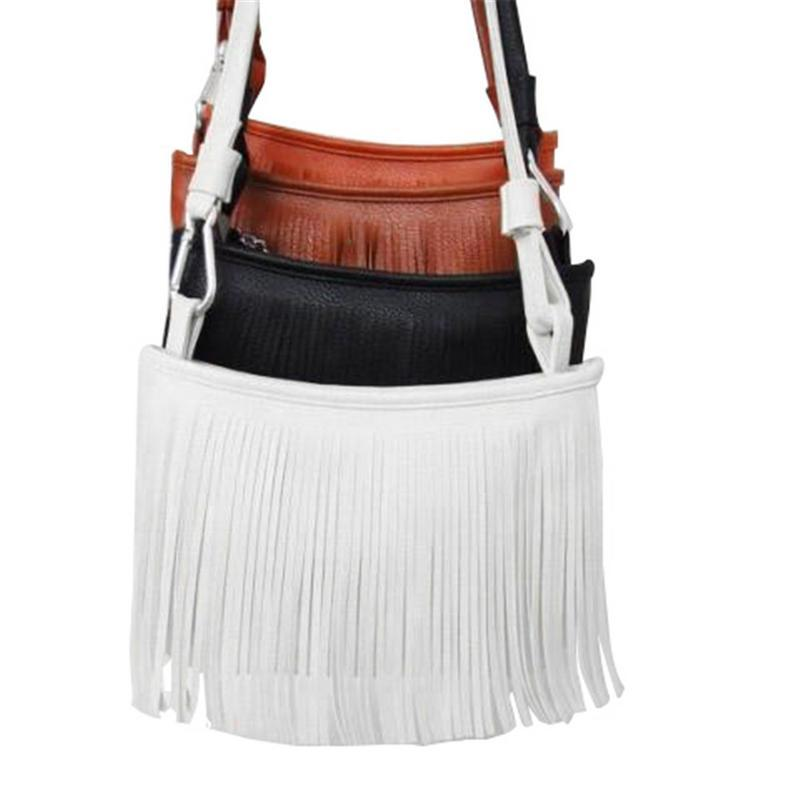 b1a240c96e05 PU Small Mini Tassel Woman Handbag Bag Shoulder Messenger Crossbody ...