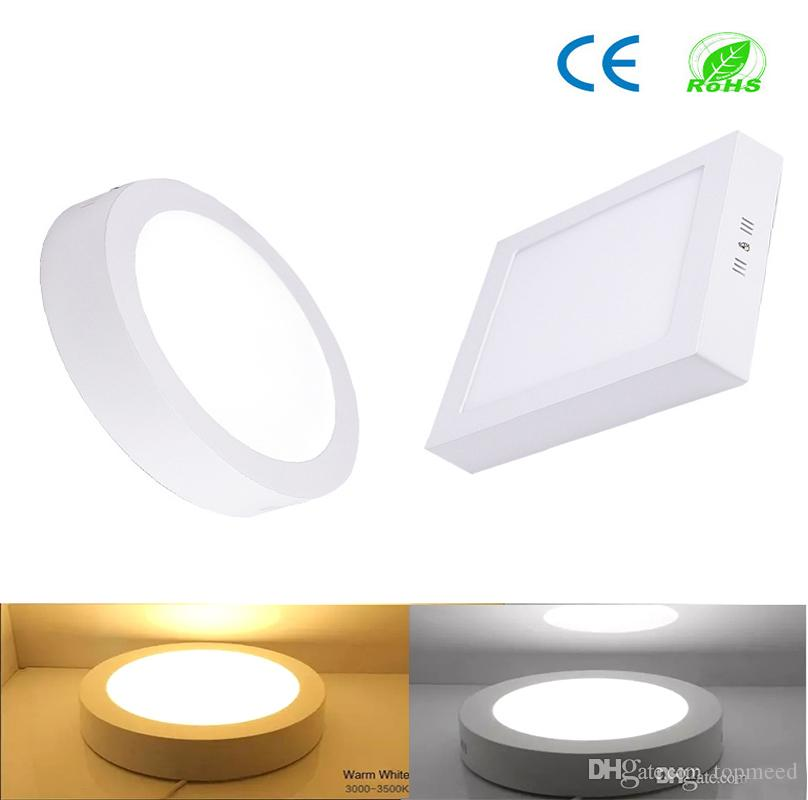 Ce Dimmable Led Panel Light 9w 15w 21w Round Square Surface Mounted Led Downlight Lighting Led Ceiling Lights Spotlight 110 240v Drivers