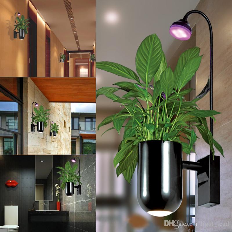 Acheter Led élèvent La Lumière Intérieure Fleur Led Lampe De Mur