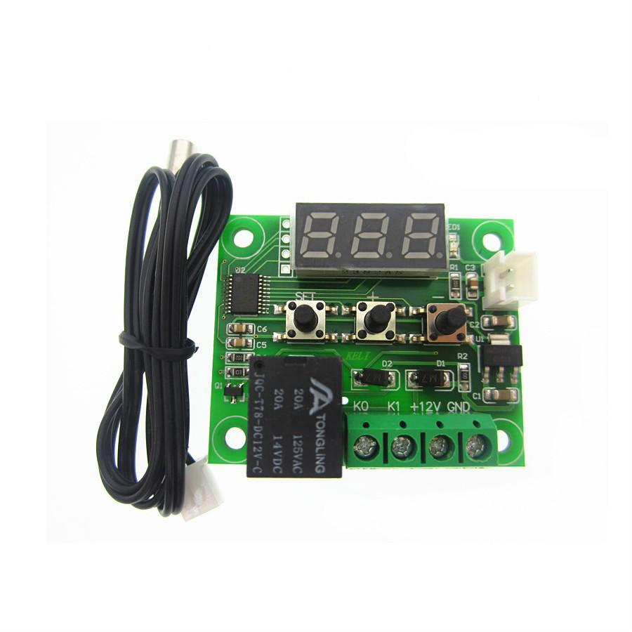 2019 W1209 Digital Led Heat Cool Temp Thermostat Temperature Control On Off Switch Module Controller Board Dc 12v Ntc Sensor From Butao 4037 Dhgate