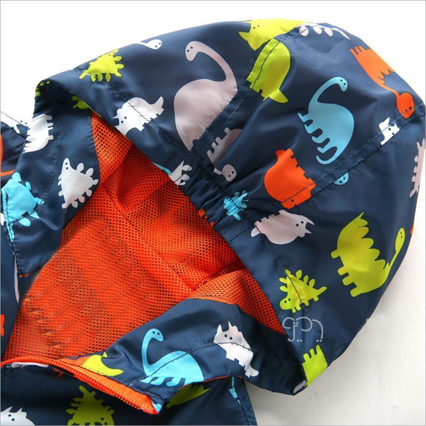 Cute Dinosaur Spring Kids Jacket Baby Boys Outerwear Coats Long Sleeve Toddler boys Outerwear jacket coat