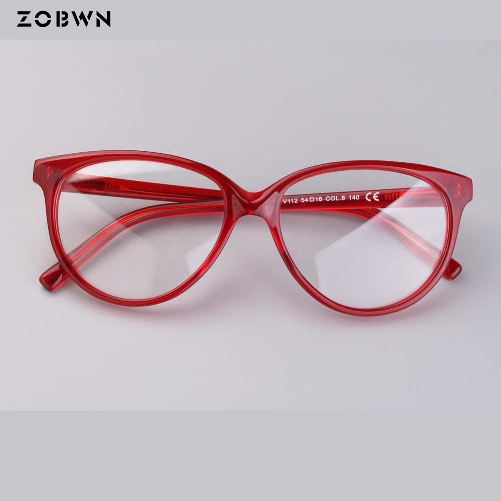 87bc9338779 2019 ZOBWN 2018 Hot Sale Women Eyeglasses Red Color Frame Ladies Eye  Glasses Optical Glasses Frame Oculos Feminino Round For Myopic From Buete