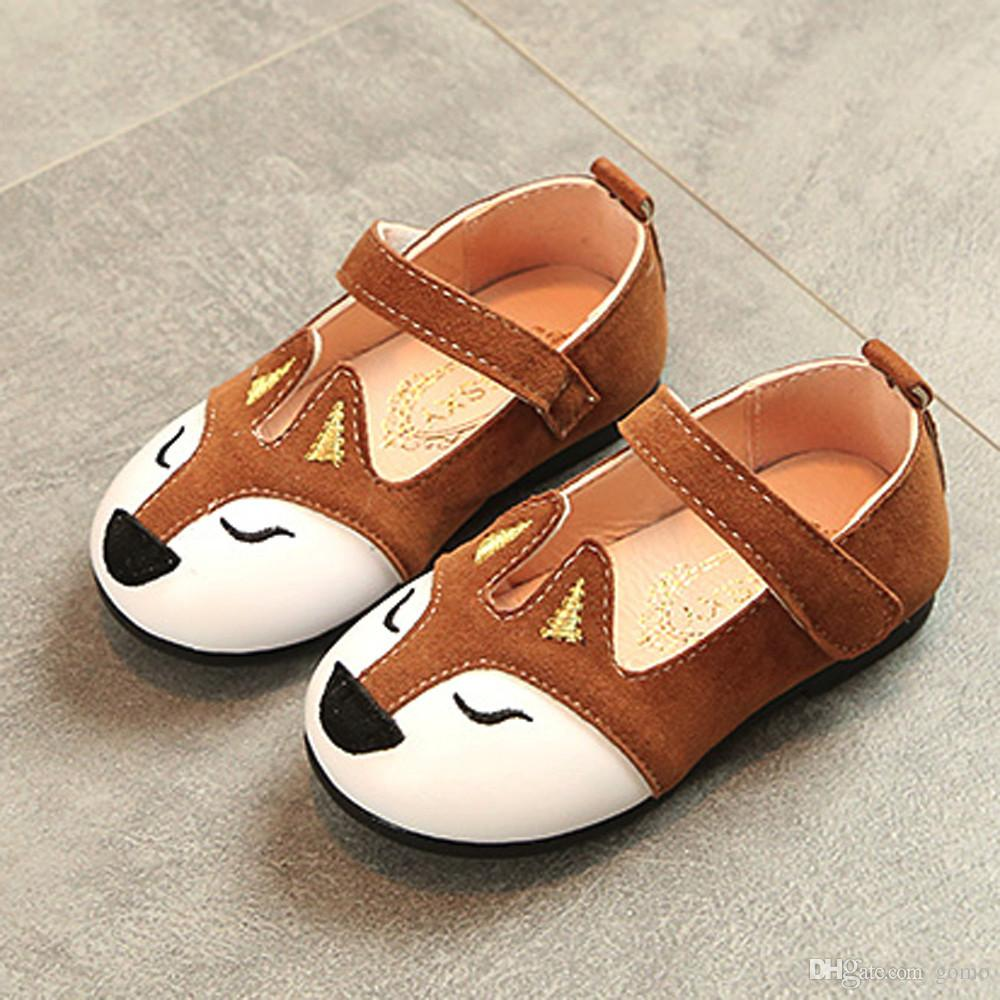 Fashion Children Fox Ballerina Pricness Casual Flat Shoes glowing sneakers zapatillas mujer girl shoes chaussure fille