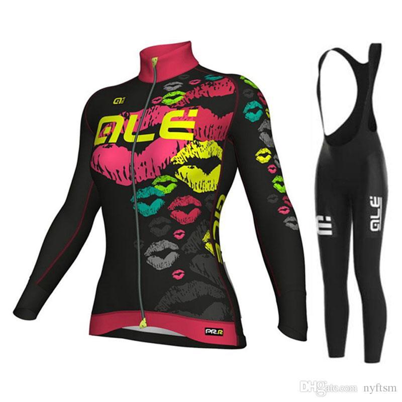 2017 Women S Long Sleeve Cycling Jersey Bike Clothes Shirt Bib Pants Set  Cycling Clothing Mtb Ropa Maillot Ciclismo Mujer Biking Pants Novelty  Cycling ... ee4500bcb