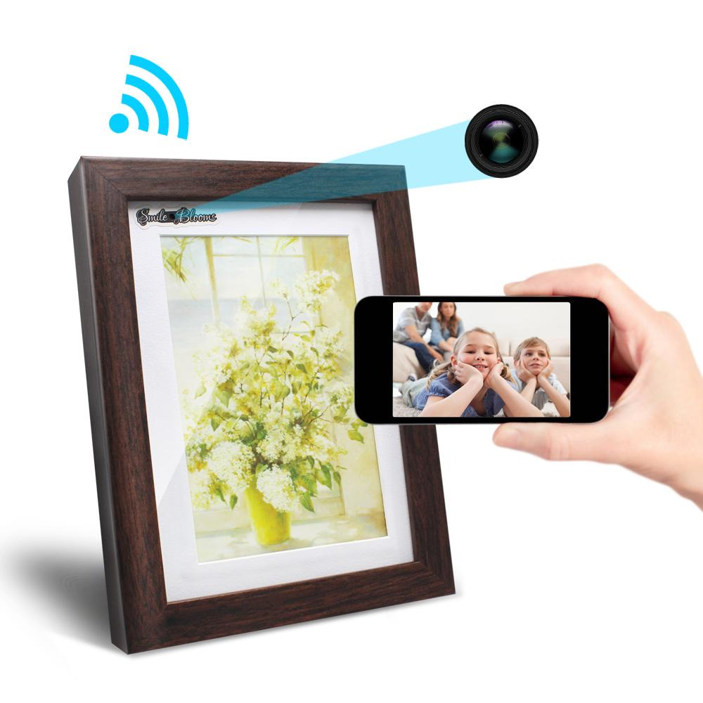 2018 Wifi Hidden Camera 720p Hd Photo Frame Camera Wireless And ...