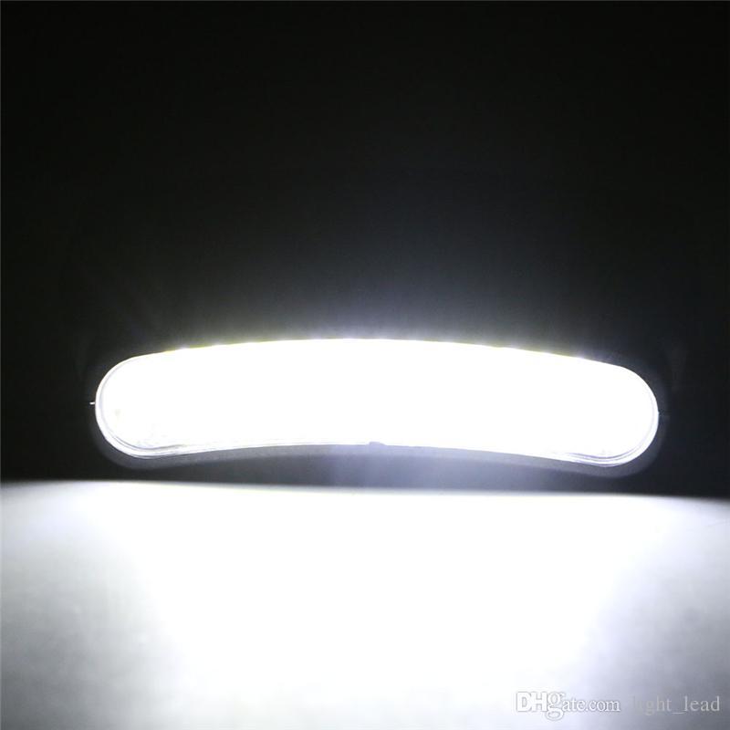 COB LED Cap Light Clip en el faro de la linterna del sombrero para la pesca de noche Senderismo Camping Cabeza de trabajo Linterna Antorcha Lámpara con 3 * 3A batería