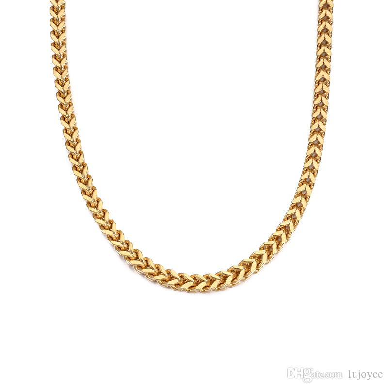 f6cb839752 Lujoyce Bling Iced Out Rhinestone Clasp Miami Necklace Hip Hop Gold Silver  316L Stainless Steel Cuban Link Chain Necklaces Jewelry