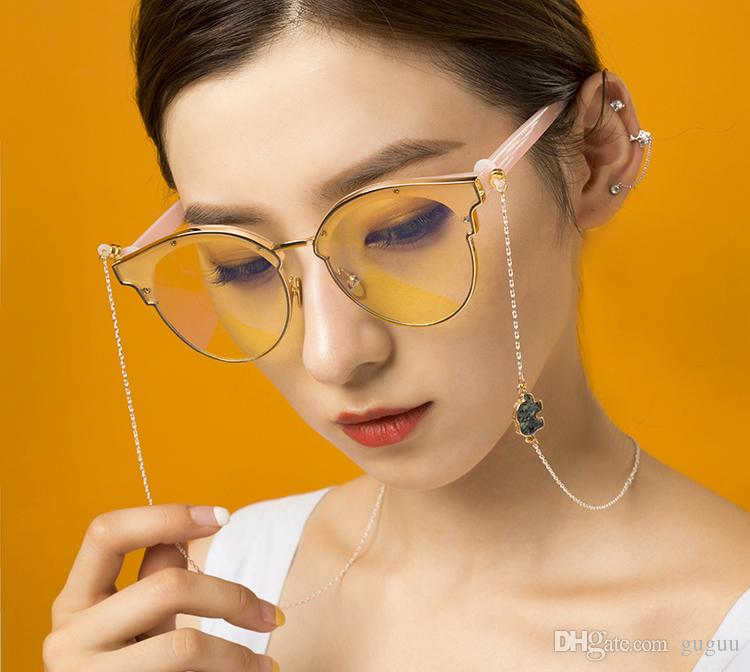 women\mujer lovely cute colorful animal cartoon elephant glasses accessories chains femme Anti falling eyeglasses neck strap for ladies