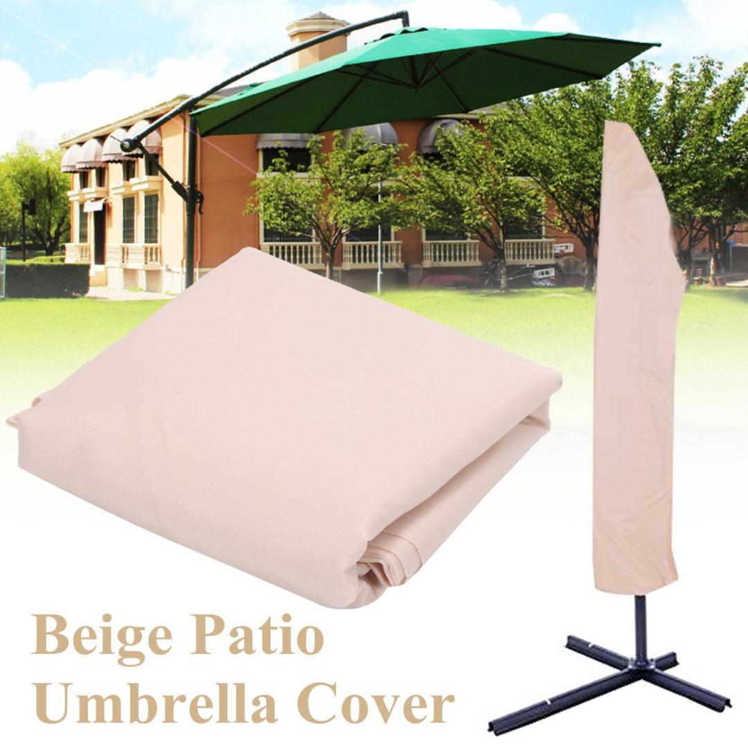 Polyester Waterproof Garden Patio Parasol Umbrella Rain Cover Canopy  Protective Bag Outdoor Rain Gear Accessories Beige 3mx45cm Tween Raincoats  Yellow ...