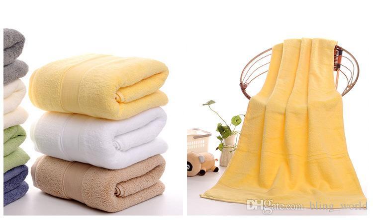 Asciugamani da bagno in cotone Luxury Addensare Asciugamano da viaggio Morbido Asciugamani da viaggio Hotel SPA Doccia Asciugamano 70 * 140 cm Home Hotel Forniture i YFA362