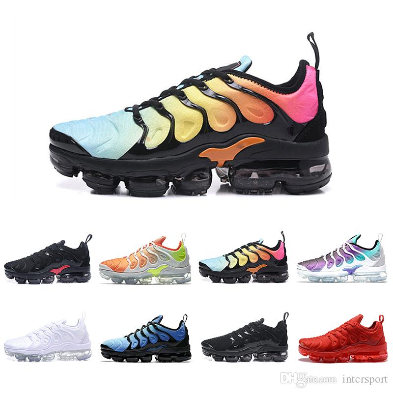 nike air vapormax plus tn Envío  gota Classic TN Plus Shoes Men Shoes TRIPLE BLACK Negro rojo Cool Grey Para correr Paquete de zapatos para hombre Triple Negro Zapatos para hombre
