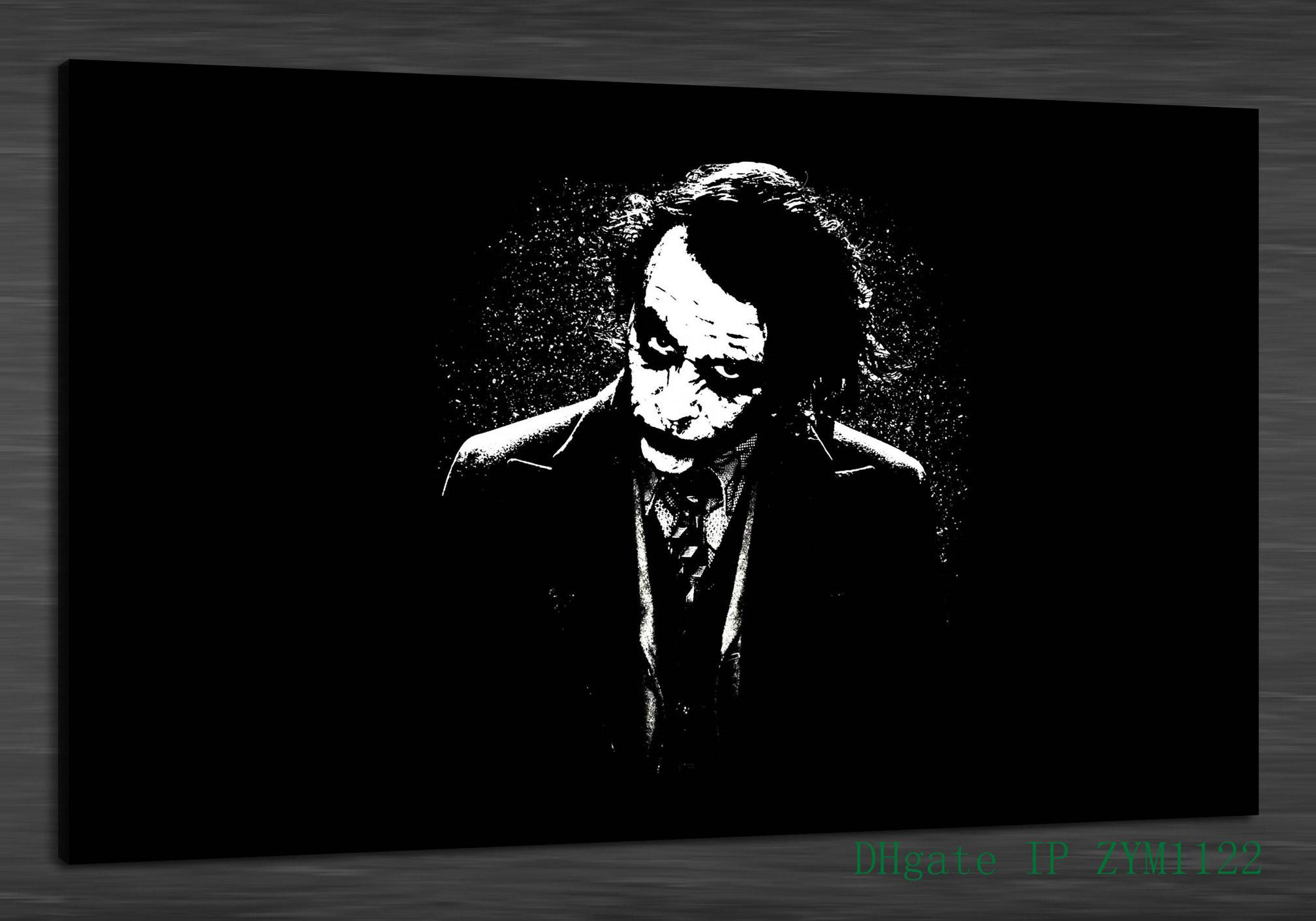 2019 black white joker home decor hd printed modern art painting on canvas unframed framed from zym1122 7 69 dhgate com