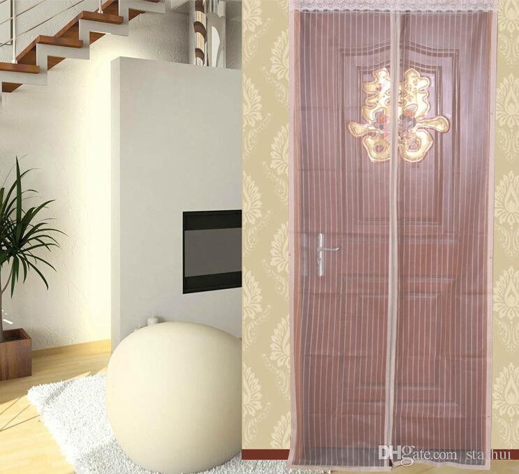 6 Farben Magnetische Tür Moskitonetz Vorhang Mesh Bildschirm Windows Insekt Fly Bug Gaze Moskito 90 * 210 cm Und 100 * 210 cm WX9-283