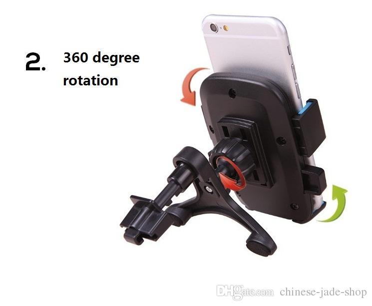 Salida universal de aire del soporte del teléfono móvil del soporte del coche 360 grados de rotación / colorido