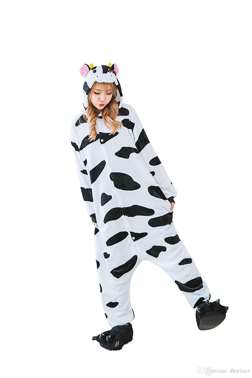 Adult Onesie Pyjamas Costumes Christmas Halloween Animal Onsie Cow